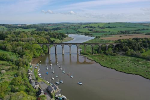 Aerial of viaduct, St Germans. Credit Chris Waters