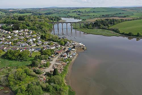Aerial shot of St Germans. Credit Chris Waters